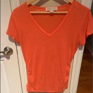 Women's Michael Kors Orange Shirt Size Small